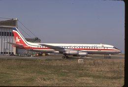 SLIDE / AVION / AIRCRAFT   KODAK  ORIGINAL  LINHAS DE MOZAMBIQUE  DC 8  F-BOLF - Diapositives