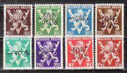 724o/v**  Lion Héraldique Surchargé -10% - Série Complète - MNH** - COB 10 - Vendu à 13.50% Du COB!!!! - 1946 -10%