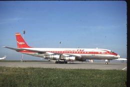 SLIDE / AVION / AIRCRAFT   KODAK  ORIGINAL   TAE  DC 8  N805E - Diapositives