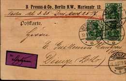 CORRESPONDANCE MILITAIRE DEPUIS L'ALLEMAGNE...(PRISONNIER ?)..19..? - Documents