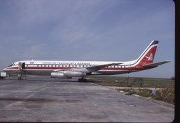 SLIDE / AVION / AIRCRAFT   KODAK  ORIGINAL   UTA  DC 8  F-BOLF - Diapositives