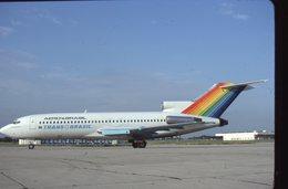 SLIDE / AVION / AIRCRAFT    ORIGINAL   AERO BRAZIL / TRANS BRAZIL  B 727 - Diapositives