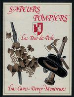 Rare // Etiquette De Vin // Pompiers  // Sapeur-Pompiers La Tour-de-Peilz - Pompiers