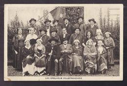 CPA 12 - VILLEFRANCHE - LES GRELHOUS VILLEFRANCHOIS - SUPERBE Photographie De Groupe - Villefranche De Rouergue
