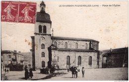 LE CHAMBON FEUGEROLLES PLACE DE L'EGLISE - Le Chambon Feugerolles