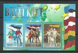 Estland Estonia 1999 Block Mi 13 Ichel 350 - 352 MNH - Estland