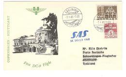 11167 - COPENHAGUE STUTTGART - Poste Aérienne