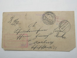 1923 , Gebühr Bezahlt , Beleg Aus   Marburg - Deutschland