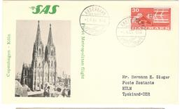 11170 - COPENHAGEN KÖLN - Poste Aérienne