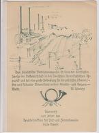 DDR 15.1.1953 Geschenkmappe überreicht Vom Leiter Der Bezirksdirektion Für Post Und Fernmeldewesen Halle (Saale) - DDR