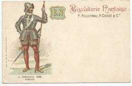 BISCUITERIE NANTAISE , B N : INFANTERIE 1590 , PIQUIER - Reclame