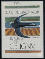 Rare // Etiquette De Vin // Oiseaux // Rosé De Pinot Noir, Le Clos De Céligny - Etiquettes