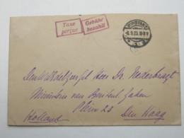 1923 , Gebühr Bezahlt , Beleg Aus   Konstanz - Deutschland