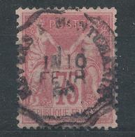 N°81 ROSE CACHET CONVOYEUR. - 1876-1898 Sage (Type II)