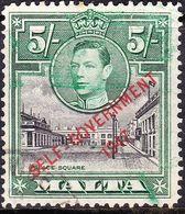 MALTA 1948 KGVI 5/- Black & Green SG247 FU - Malte (...-1964)