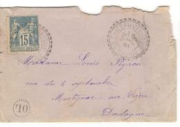 11180 - CHATEAU L EVEQUE - Marcophilie (Lettres)