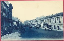 New Bridge Road, Work Repairing Singapore 1900's (UNC) N°14 OTKPbITOE IINCbMO_S'pore-CPA Old_Collection - Singapour