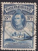 Gold Coast 1938 - 44 KGV1 3d Blue Castle Accra SG 124 ( K1147 ) - Côte D'Or (...-1957)