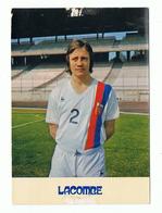 LYON , CARTE PUBLICITE   OLYMPIQUE LYONNAIS , O L - JOUEUR  BERNARD LACOMBE , PUBLICITE SOMMS - Football