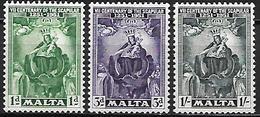 MALTE    -   1951 .   Y&T N° 225 / 227 ** - Malte (...-1964)