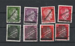 Mi. Nr. 660 - 663; 668 II - 671 Gestempelt - 1945-.... 2ème République