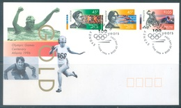 AUSTRALIA  - FDC - 6.6.1996 - OLYMPIC GAMES ATLANTA - Yv 1534-1536 - Lot 18631 - Premiers Jours (FDC)