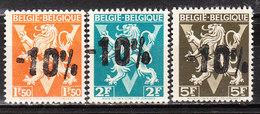 724K/M**  Lion Héraldique Surchargé -10% - Série Complète - RHODE ST GENESE - MNH** - LOOK!!!! - 1946 -10%