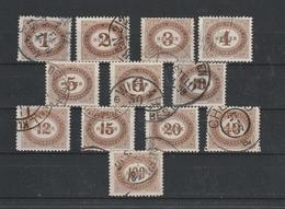 Porto Mi. Nr. 22 - 33 Gestempelt - 1850-1918 Imperium