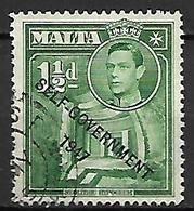 MALTE    -   1953 .   Y&T N° 229 Oblitéré    Self-Gouvernement . - Malte (...-1964)
