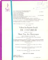 Devotie - Doodsbrief - Overlijden - Valeris De Couvreur - Michelbeke 1887 - Sijsele 1973 - Décès