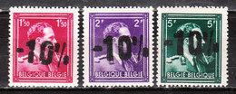 724N/P**  Leopold III Col Ouvert Surchargé -10% - RHODE ST GENESE - Série Complète - MNH** - LOOK!!!! - 1946 -10%