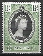 MALTE    -   1953 .   Y&T N° 224 *.  Couronnement De La Reine. - Malte (...-1964)