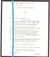 Devotie - Doodsbrief - Overlijden - Camilla Van Hecke - Maldegem 1891 - 1975 - Décès