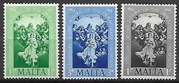 MALTE    -   1954 .   Y&T N° 236 à 238 *.   L' Immaculée Conception - Malte (...-1964)