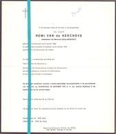 Devotie - Doodsbrief - Overlijden - Remi Van De Kerchove - Kruishoutem 1888 - Kapellen 1976 - Décès