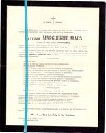 Devotie - Doodsbrief - Overlijden - Marguerite Maus - Galmaarden 1884 - Geraardsbergen 1955 - Décès