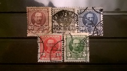 FRANCOBOLLI STAMPS DANIMARCA DANMARK 1907 RE FEDERICO VIII - 1905-12 (Frederik VIII)