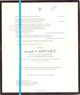 Devotie - Doodsbrief - Overlijden - Joseph Caducque - Herent 1890 - Gand Gent 1976 - Décès