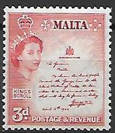 MALTE    -   1956 .   Y&T N° 245 *. - Malte (...-1964)