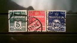 FRANCOBOLLI STAMPS DANIMARCA DANMARK 1912 SIMBOLI NAZIONALI - 1905-12 (Frederik VIII)