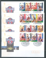AUSTRALIA  - FDC - 23.4.1996 - AUSTRALIAN FOOTBALL LEAGUE - Yv 1514-1529 - Lot 18633 - Premiers Jours (FDC)