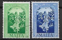 MALTE    -   1954 .   Y&T N° 236 / 237 Oblitérés. - Malte (...-1964)