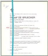 Devotie - Doodsbrief - Overlijden - Octaaf De Bruecker - Knokke 1898 - 1977 - Décès