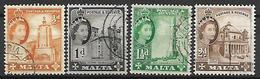MALTE    -   1956 .   Y&T N° 240 à 243 Oblitérés. - Malte (...-1964)