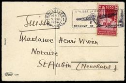 1934, Belgien, 379, Brief - Belgien