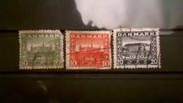 FRANCOBOLLI STAMPS DANIMARCA DANMARK 1920 REUNION WITH NORTHERN SCHLESWIG - 1913-47 (Christian X)