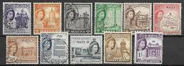 MALTE    -   1956 .   Y&T N° 239 à 249 Oblitérés. - Malte (...-1964)