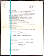 Devotie - Doodsbrief - Overlijden - J.H. Gérard Bouhon - Jette 1908 - Ledeberg 1980 - Décès