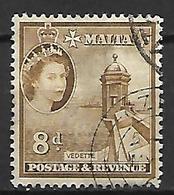 MALTE    -   1956 .   Y&T N° 248 Oblitéré . - Malte (...-1964)