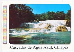 CPSM / CPM 10.5 X 15 Mexique (2) Cascadas De Agua Azul, Chiapas  Cascades  Chute D'eau - Mexique